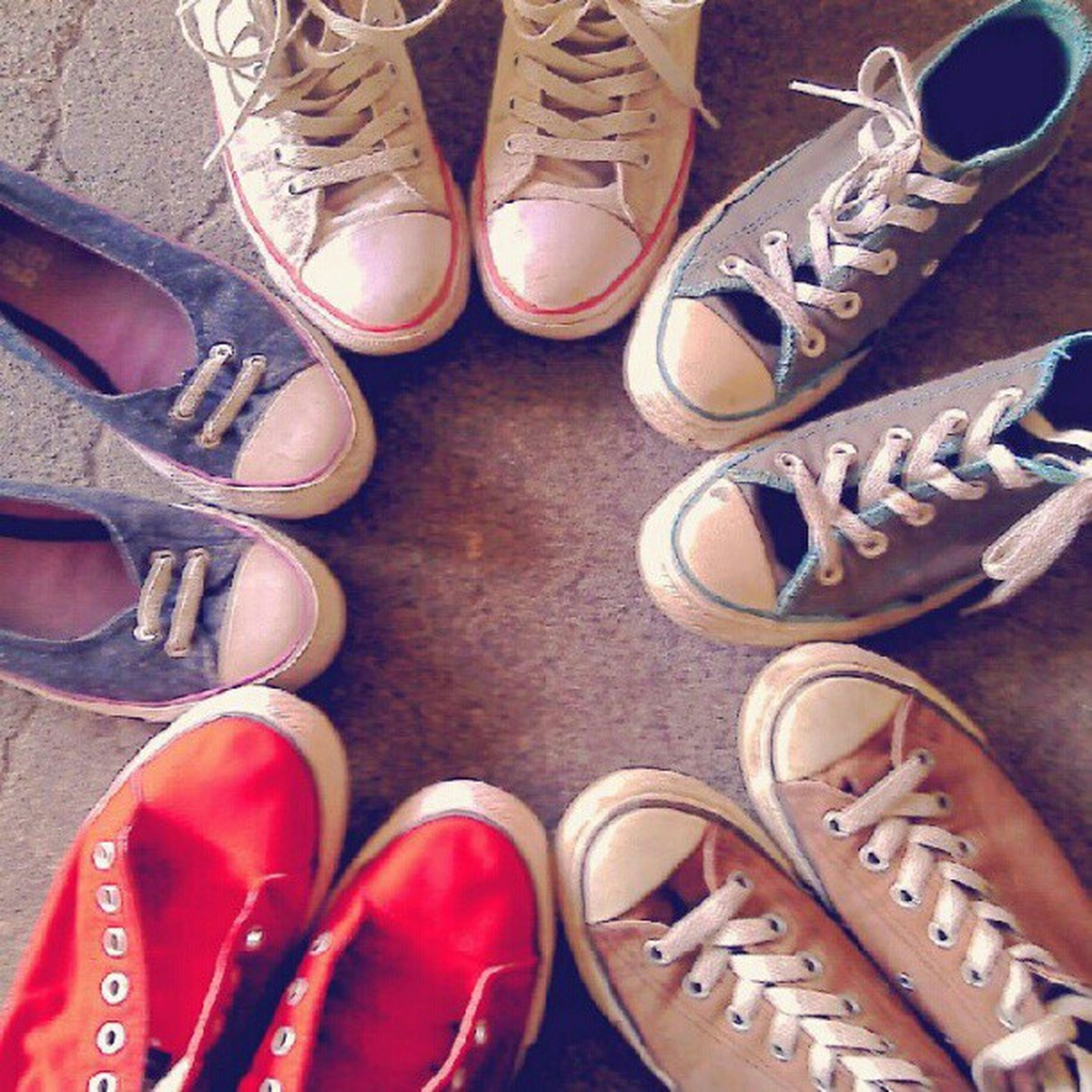shoe, variation, low section, person, high angle view, footwear, pair, fashion, indoors, choice, close-up, large group of objects, abundance, part of, still life, directly above, shoelace, in a row, arrangement