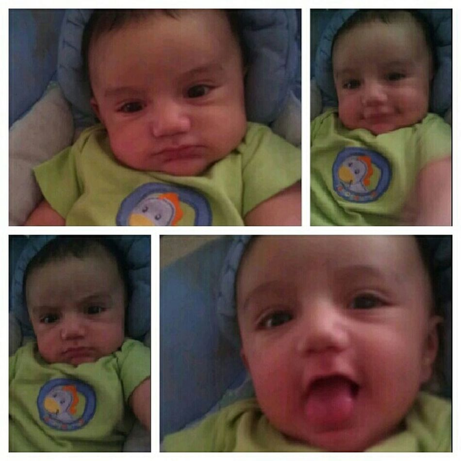 making mad faces lol love him