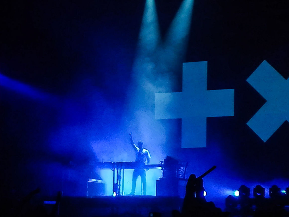 Arts Culture And Entertainment Silhouette Night Illuminated Blue Enjoyment Event Stage - Performance Space Performance Nightlife Performer  Hobbies Outline Hand Raised Music Martingarrix Homefestival2016 HomeFestival Music Brings Us Together Performing Arts Event Fun Crowd Summer