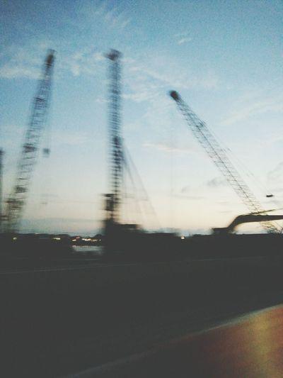 Sky Littleclouds Construction Site Blury