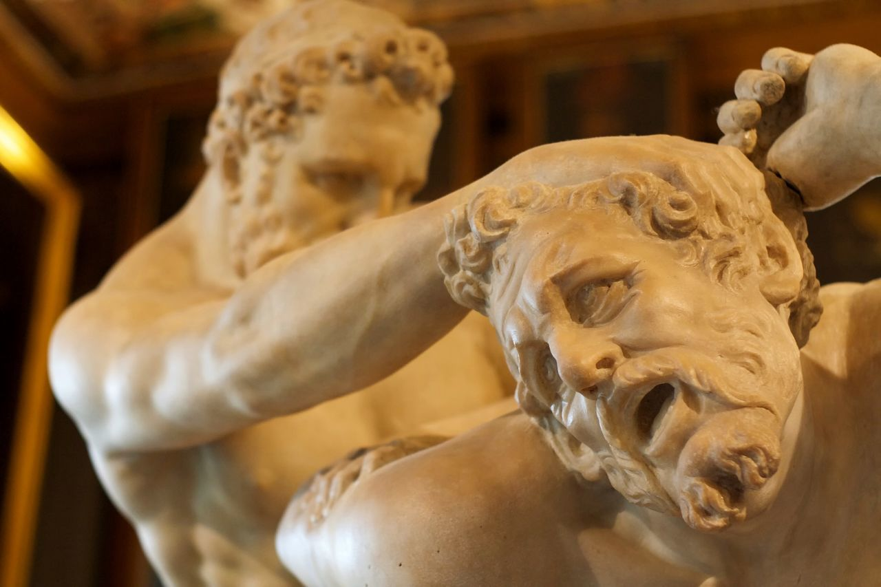 Close-up Indoors  Marble Men Muscles Pain Sculpture Statue Submission Uffizi White
