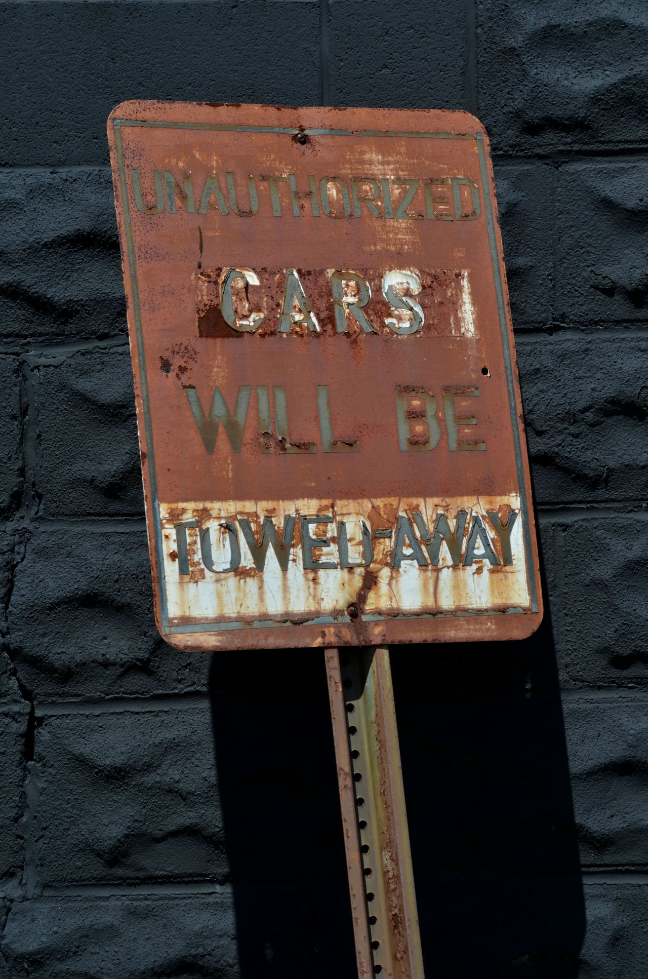 rusty Tow Away sign Close-up Communication Day No Parking Sign No People Outdoors Rusty Metal Rusty Sign Sign Text Text