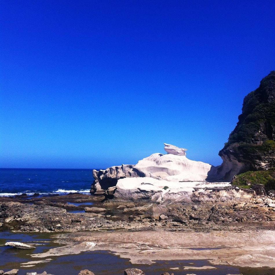 Ilocos, Philippines Architecture Beach Beauty In Nature Blue Clear Sky Copy Space Day Horizon Over Water Nature Rock Rock - Object Rock Formation Scenics Sea Shore Tranquility Water