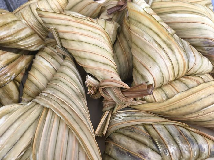 Glutinous Rice Sticky Rice Chinese Dumpling Full Frame Rice Dumplings Local Food Culture Close Up Rice In Bamboo