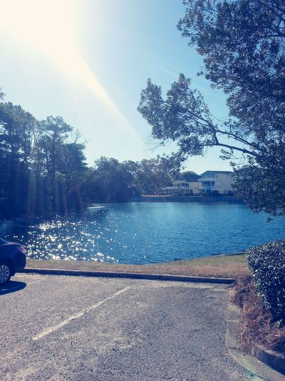 The beautiful pond behind barefoot church :)