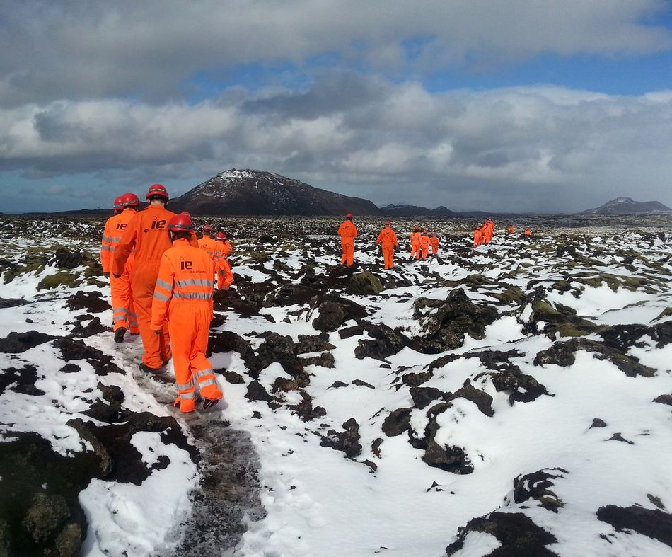 went exploring a lava tube cave today, it was great... Iceland Orange Snow Lava (no filter)