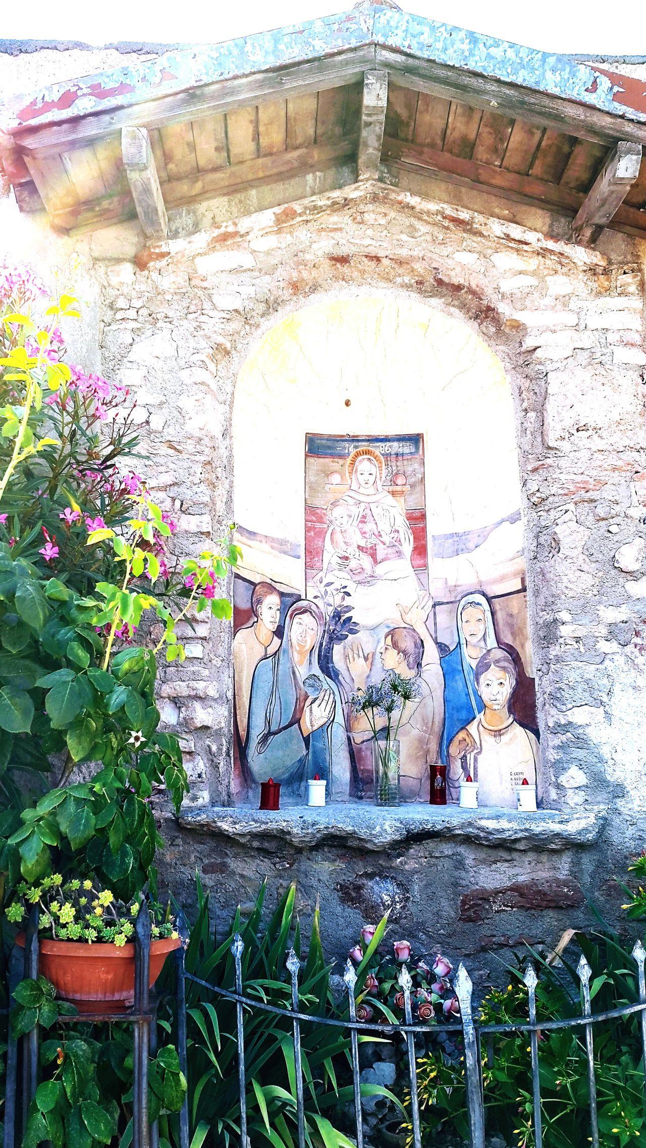 Religion Built Structure No People Fresco Church Creativity Day Sun Glare