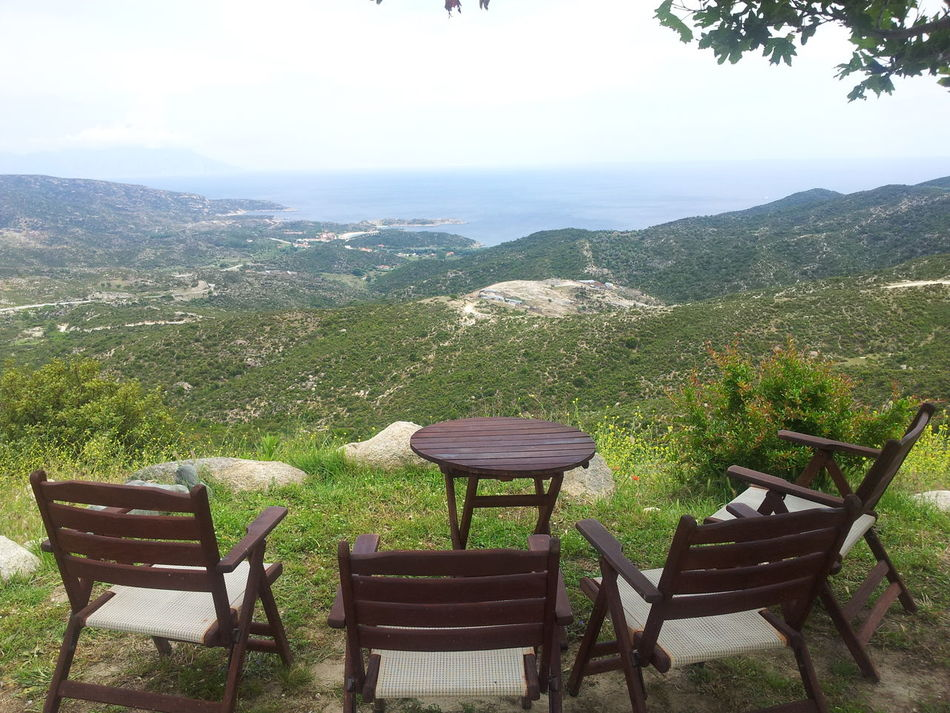 Chair Coffie Coffiee Time Hill Holiday Landscape Mountain Outdoors Vacation View