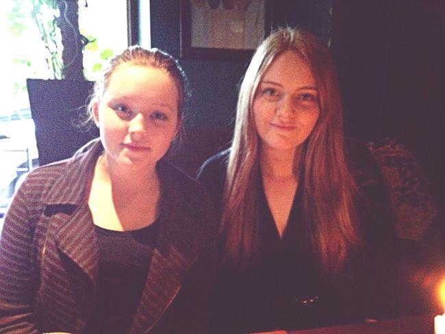 Me and My sister. Baby Sis Eating Weekend Sisters