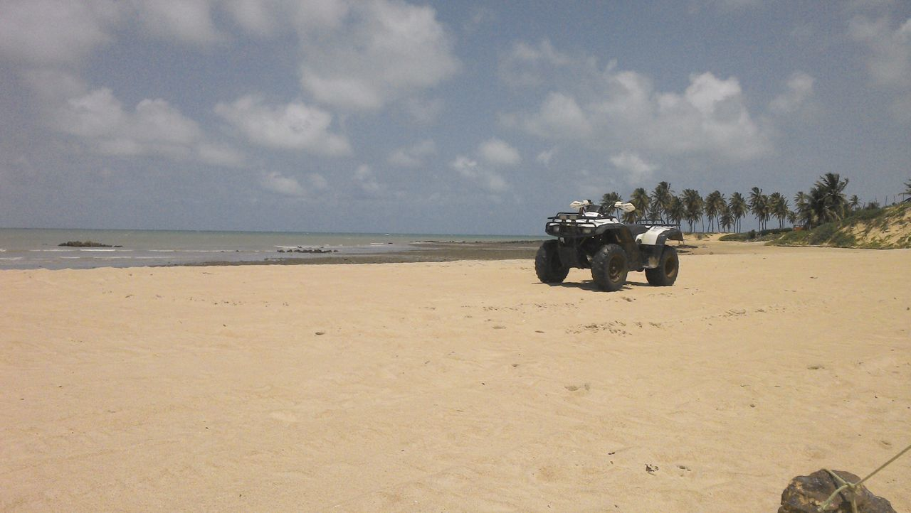 Maracajau's Beach Animal Themes ATV Ride Beach Beauty In Nature Colors Day Horizon Over Water Mammal Nature No People Outdoors Quadbike Sand Scenics Sea Sky Transportation Water