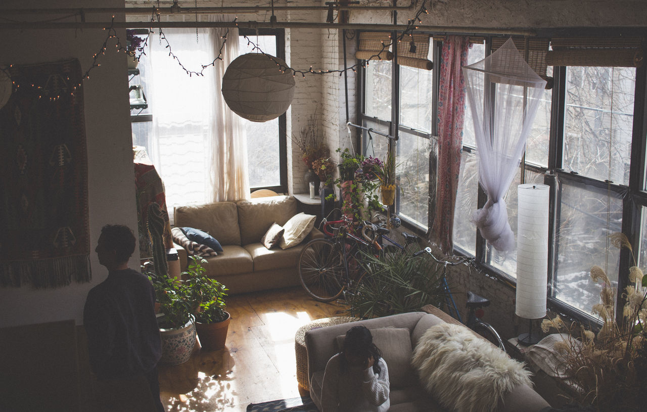 Bushwick, Brooklyn Apartment Artist Bohemian Brooklyn Bushwick Chill Indoors  Indoors  Magazine New York New York City Plant Style Winter