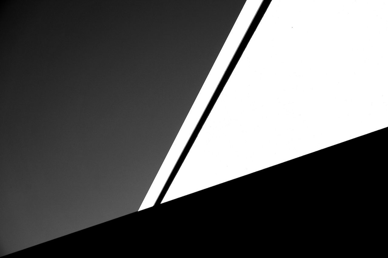Abstract Blackandwhite Contrast Geometry Lines And Shapes Minimalism Negative Space Simplicity
