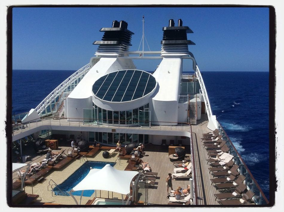 Seabourn Quest at sea today, crossing the Atlantic Travel Photos Around The World