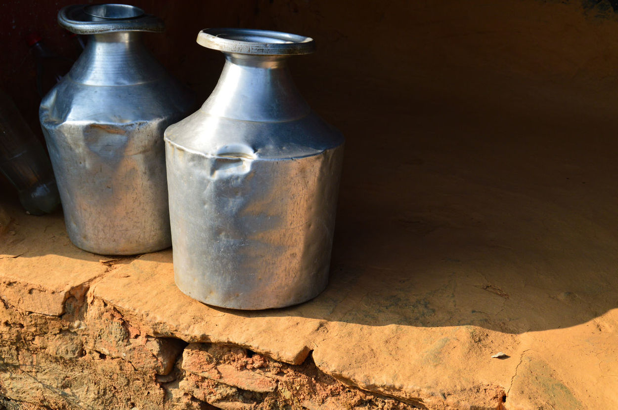 Water Container Traditional Water Container Drink Cold Temperature Shadows Light And Shadow Metal Container Kathmandu, Nepal Travel Travel Photography Still Life Photography Still Life No People