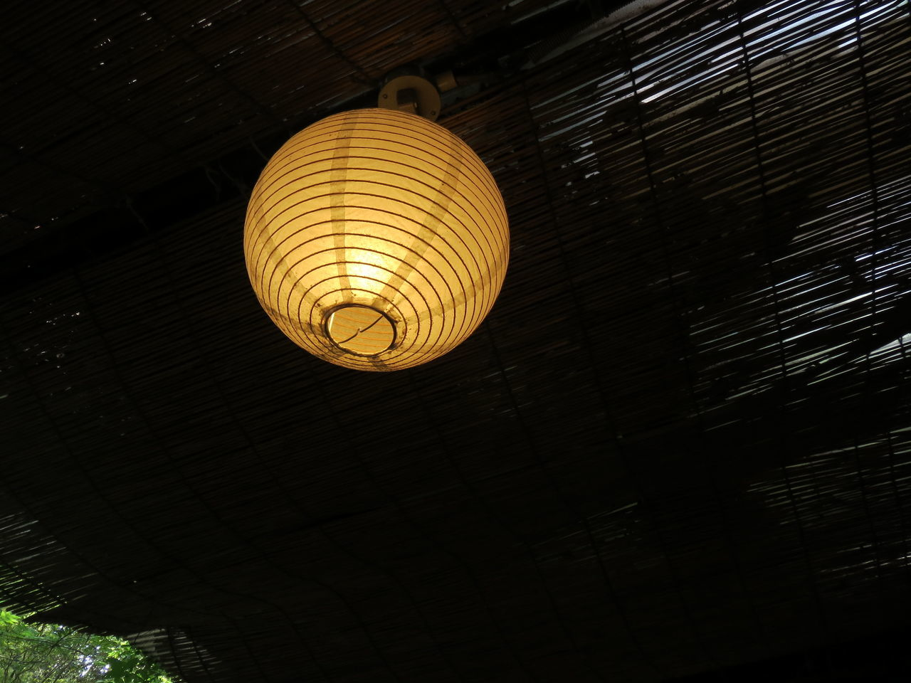 lighting equipment, low angle view, hanging, illuminated, indoors, electricity, no people, night, lantern