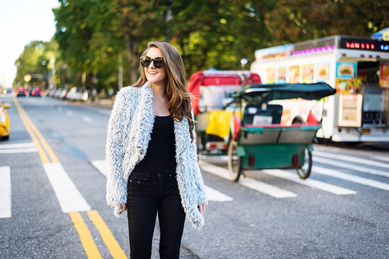 Young Adult Sunglasses Road One Person Street Walking Long Hair Only Women Beautiful People Adult Fashion One Woman Only Outdoors Casual Clothing City Street City Life City One Young Woman Only Young Women People Lifestyles Transportation Portrait Of A Woman Fashion Photography NYC
