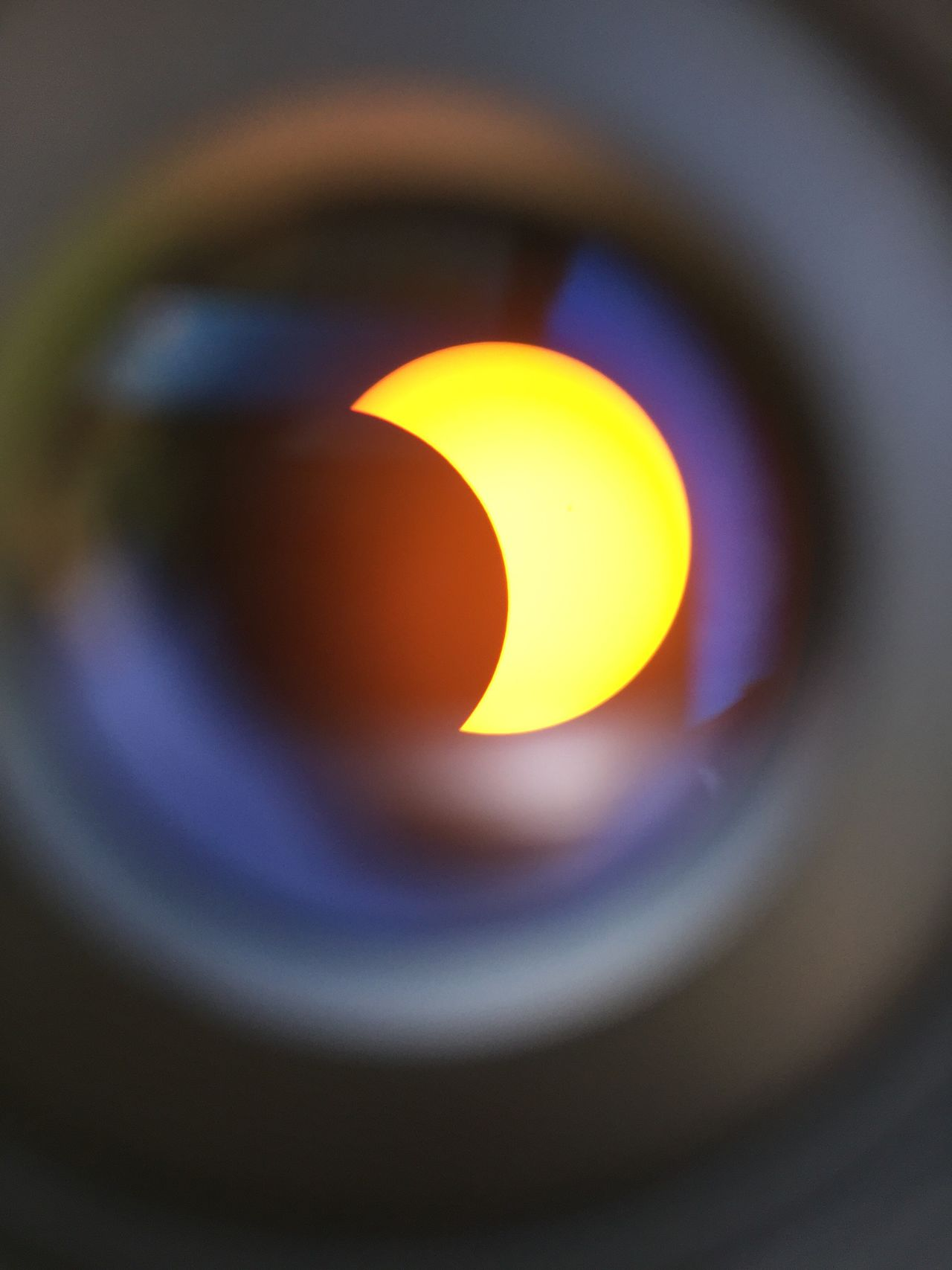 Partial Solar Eclipse viewed from the Observatory in San Cosme and San Damian, Paraguay 2017-02-26 Solar Eclipse Telescope Telescope View Sun Moon EyeEmNewHere