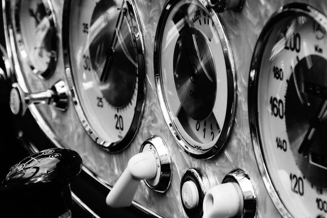 Classic Car Close-up Eye4photography  EyeEm Best Shots EyeEm Gallery Full Frame Gearshift Instrument Panel Instruments Mein Automoment Mercedes Mercedes-Benz Numbers Oldtimer Panel Side By Side Speedometer Switch Switches Tachometer Technology Fine Art Photography Monochrome Photography