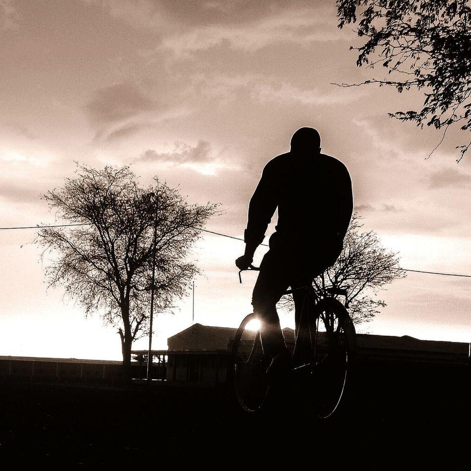 Make It Yourself First Eyeem Photo Cauendephotos Blackandwhite Manochrome Bicycle Village Chiange Sunset
