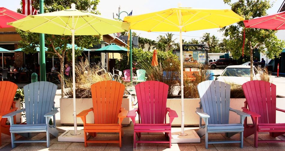 EyeEmNewHere Empty Chair Florida Multi Colored Outdoors Relaxation Summer Sunny Day First Eyeem Photo No People