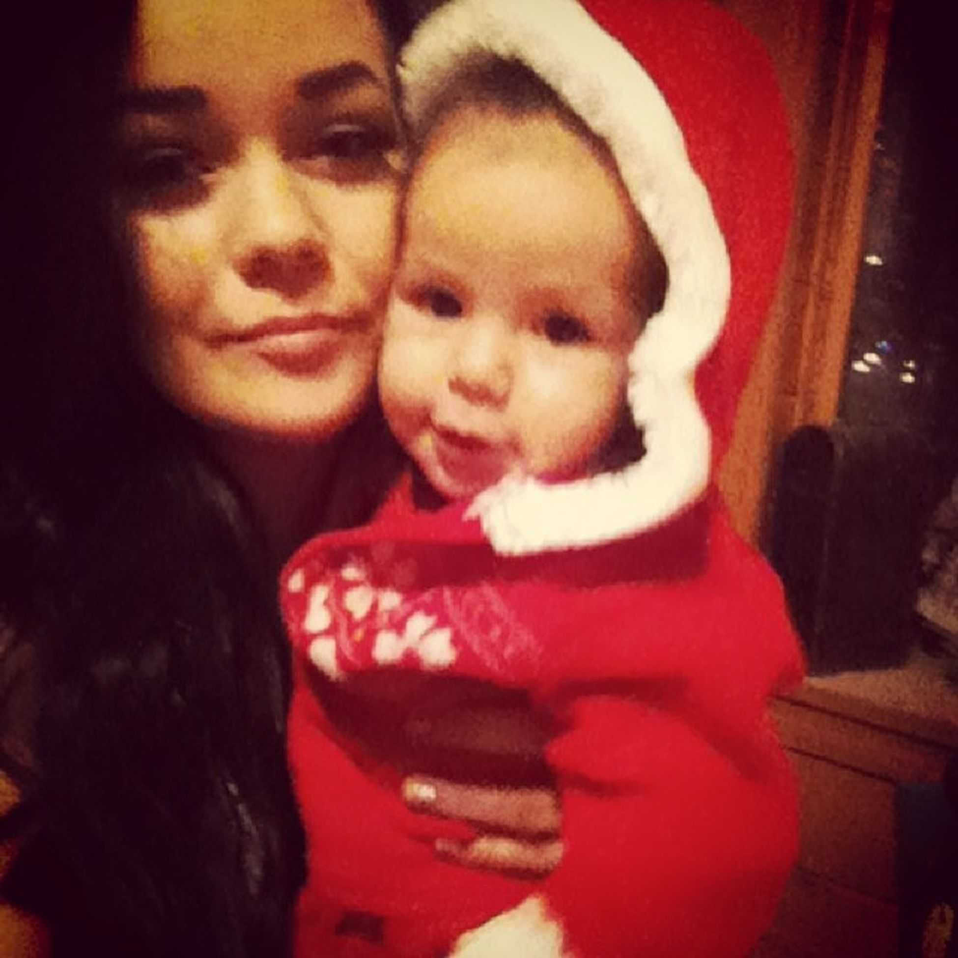 Baby it's cold outside.. ❄ Firstchristmas Soinlove Santasuit Mygorgeous sohappymyworldbestbabyeversomuchloveforeverMYgirl