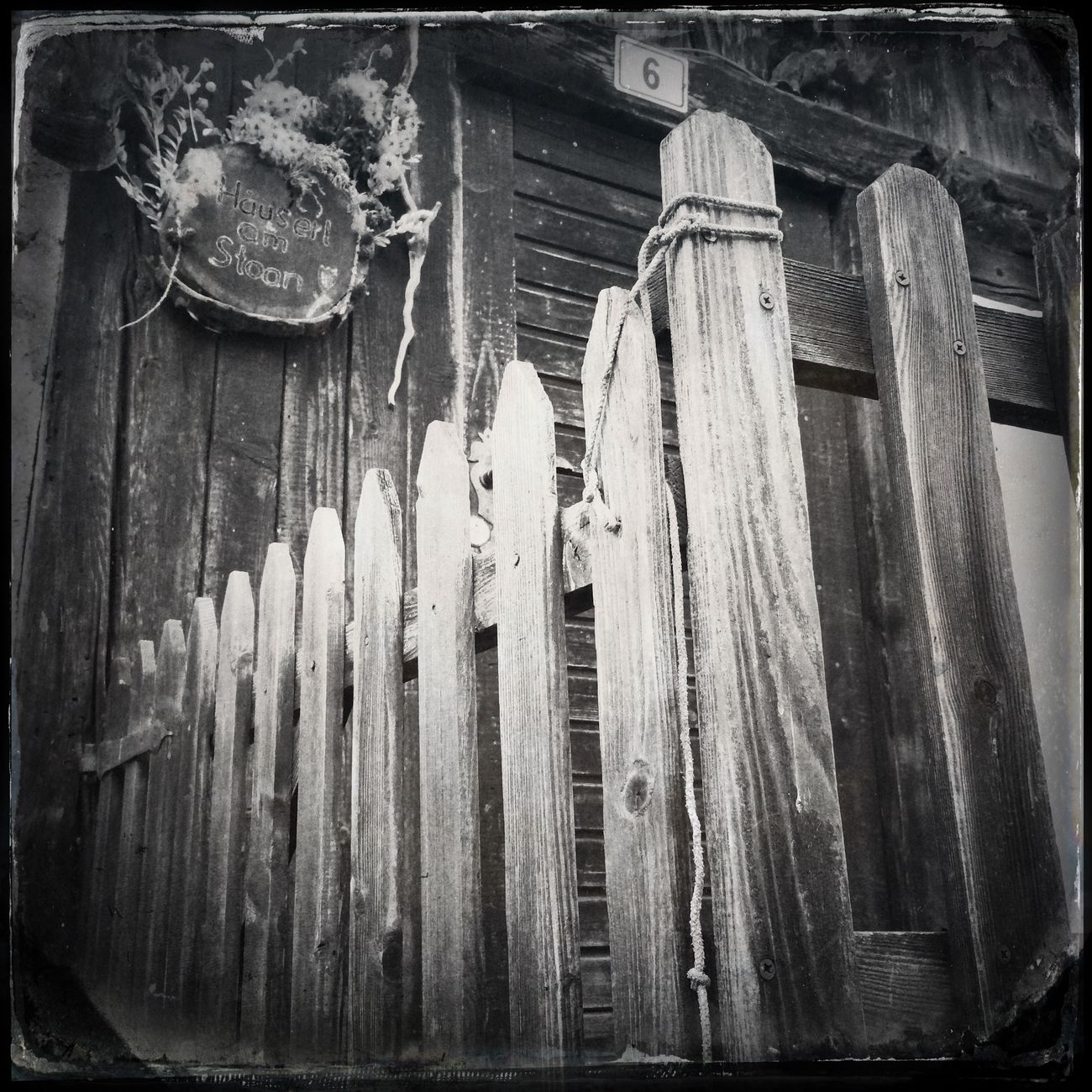 The fence oft the old house Hipstamatic Blackandwhite The_guido