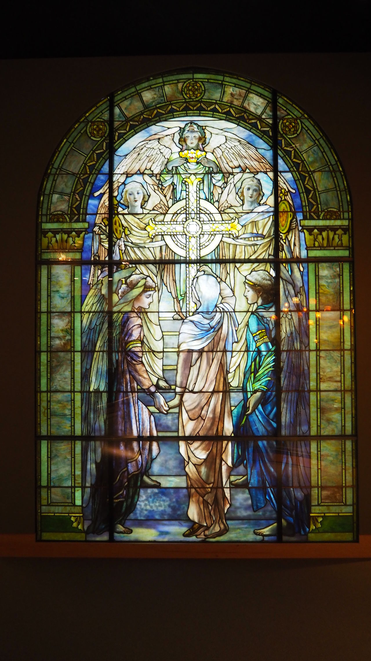 Sculpture Indoors  Leadlight Window Painted Image Religion Stained Glass Stained Glass Window Window