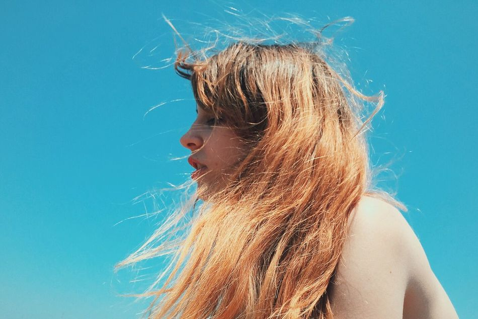 Beautiful stock photos of porträt, Beautiful Woman, Beauty, Blond Hair, Blue
