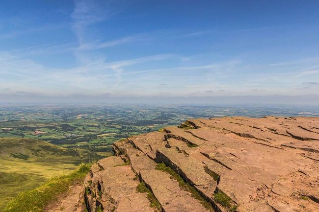 Corn Du Views From The Top Brecon Beacons Pen Y Fan Wales Powys Welsh Mountains