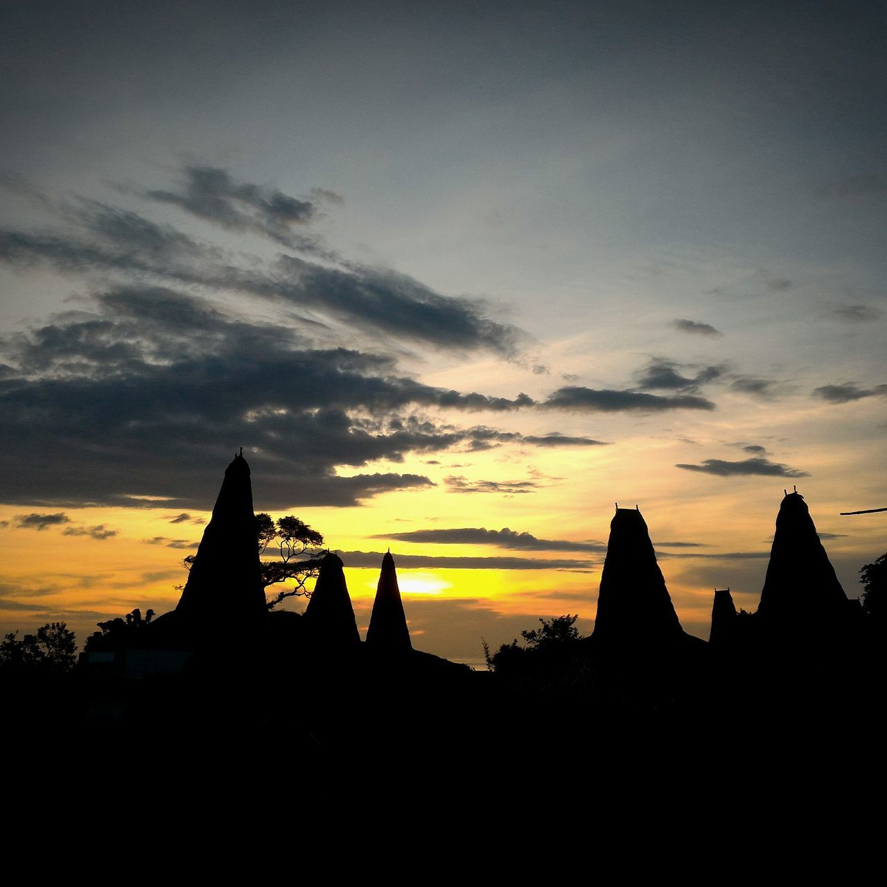 Sunset @ traditional village. Sunset Religion Architecture Built Structure Sumba Barat Daya No People Day Kodi Nature Outdoors Silhouette Sky Building Exterior Indonesia_photography