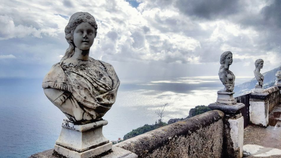 Statue Sculpture Travel Destinations Tourism History Amalfi Coast Tranquil Scene Ravello Italy Vacations Ocean Villa Sea Tranquility