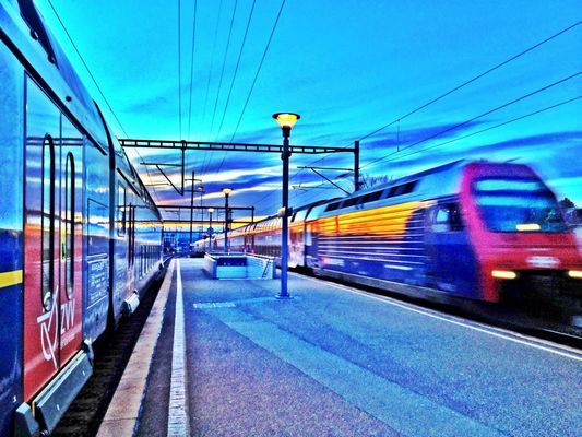 HDR at Bahnhof Dübendorf by Adrian Senn