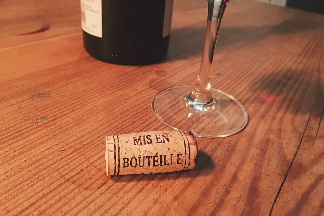 Mis En Bouteille Cork Wood - Material Wine Wineglass Indoors  Close-up No People Wine Bottle Red Wine Drinking Alcohol