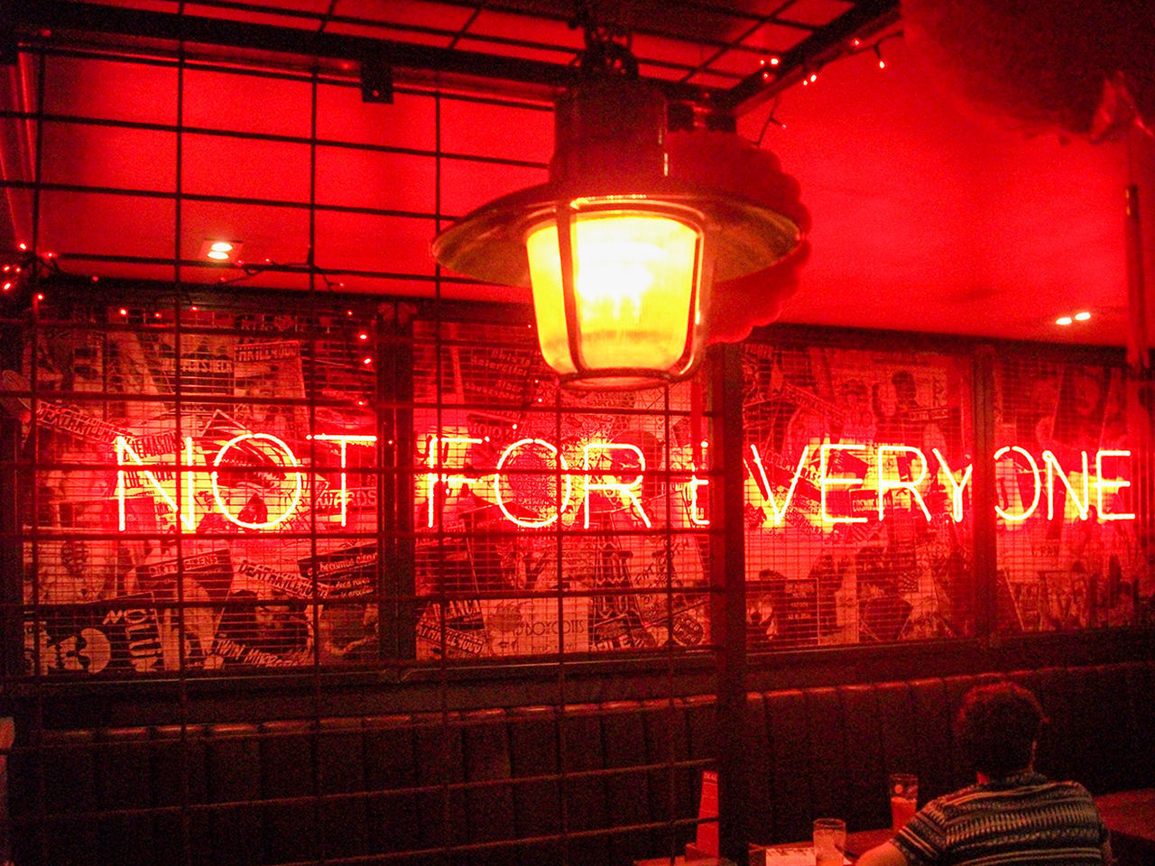 Not For Everyone Illuminated Red Indoors  Neon Glasgow  Bloc+