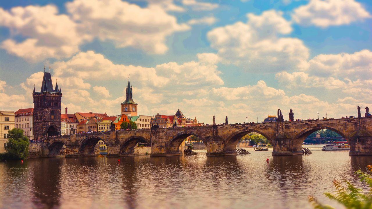 Beautiful stock photos of prague, Arch, Arch Bridge, Architecture, Bridge - Man Made Structure