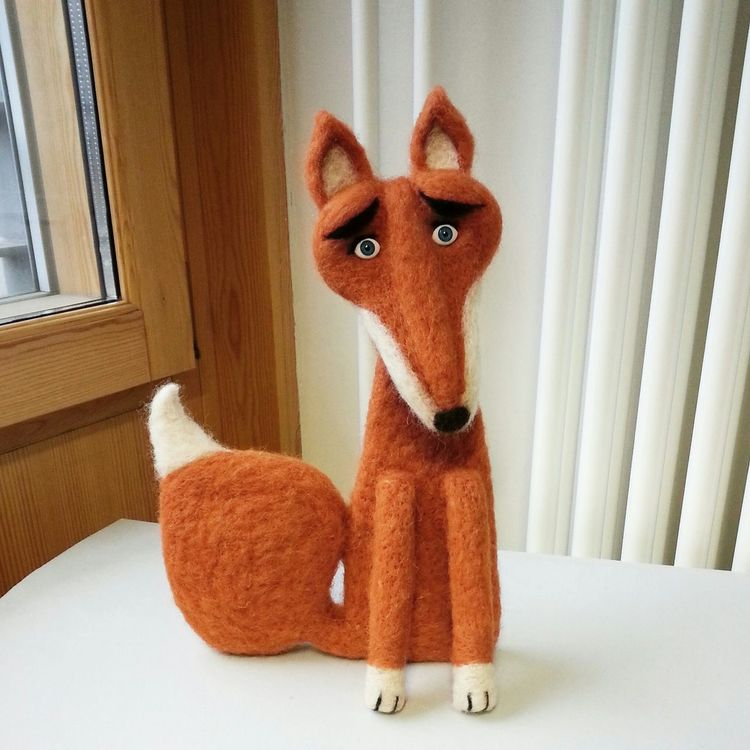 needlefelted fox :) Fox Felt Art Toys Art, Drawing, Creativity Needlefelting Needle Felted Arts And Crafts