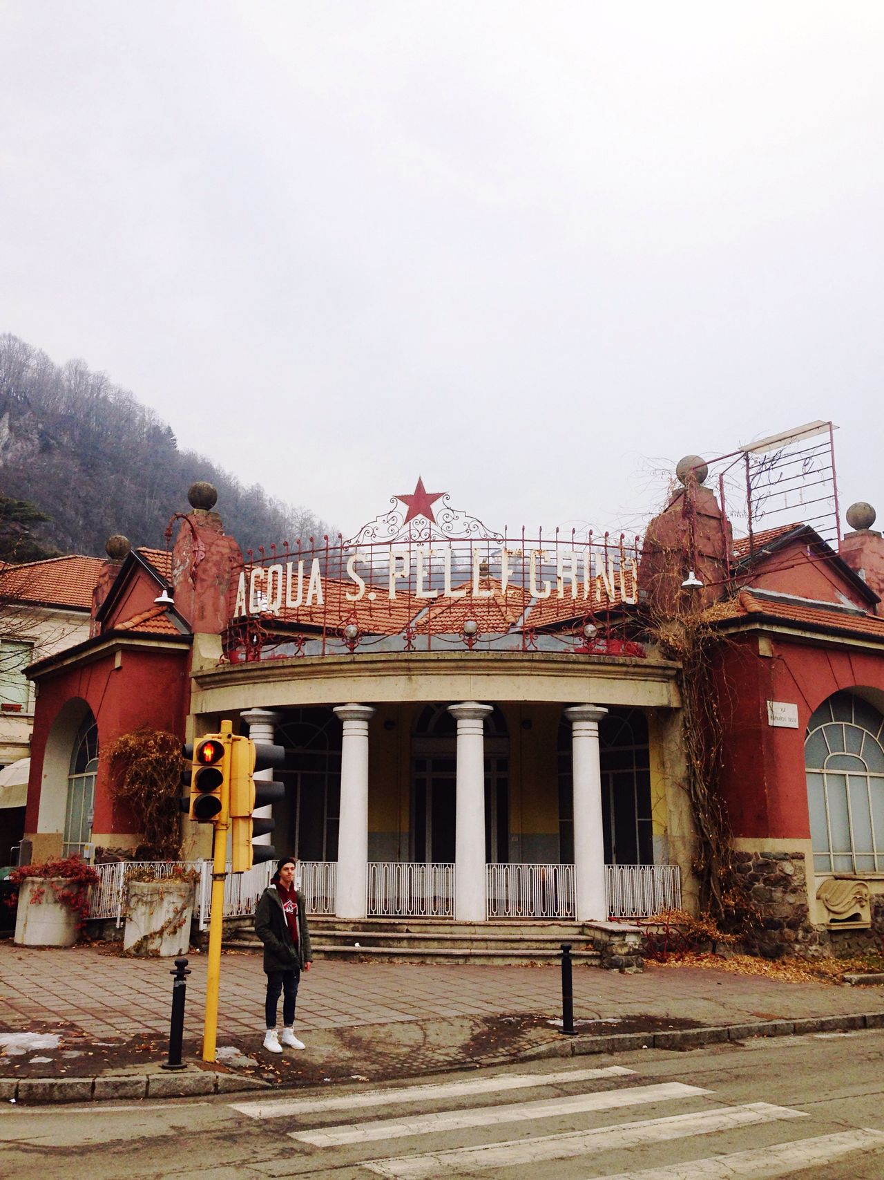 Architecture Building Exterior Built Structure Real People Lifestyles Tourist Day Women Travel Destinations Outdoors Steps Sky One Person People Therme Art Nouveau Art Nouveau Architecture Ghost Town Abandoned Building San Pellegrino