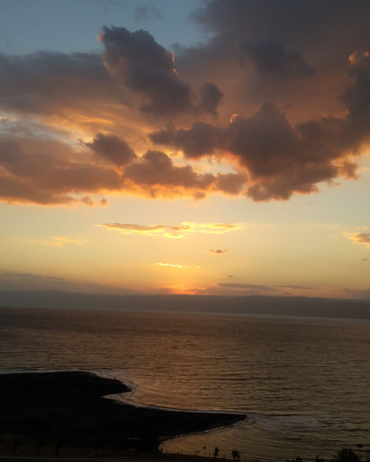 Sunset Sea Romantic Sky Beauty In Nature Sky Nature Deadsea Jordan Nofilter