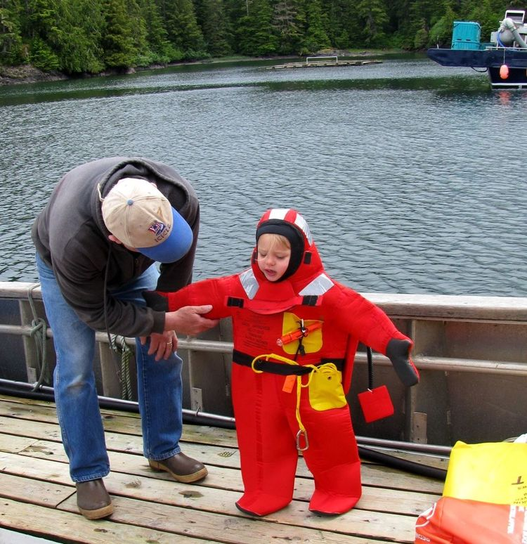 Safety Drill Alaska Boat Boat Safety Child Safety Commercial Fishing Lifestyles Outdoors Survival Suit