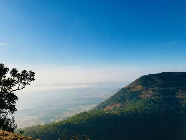 3layers HillTopView India Refreshment Tree Beauty In Nature Clear Sky Day Forest Fresh Good Morning Hilltop IPhoneography Increadibleindia Iphone7 Landscape Mountain Mountain Range Nandihills Nature Outdoors Scenics Tranquil Scene Tranquility Tree