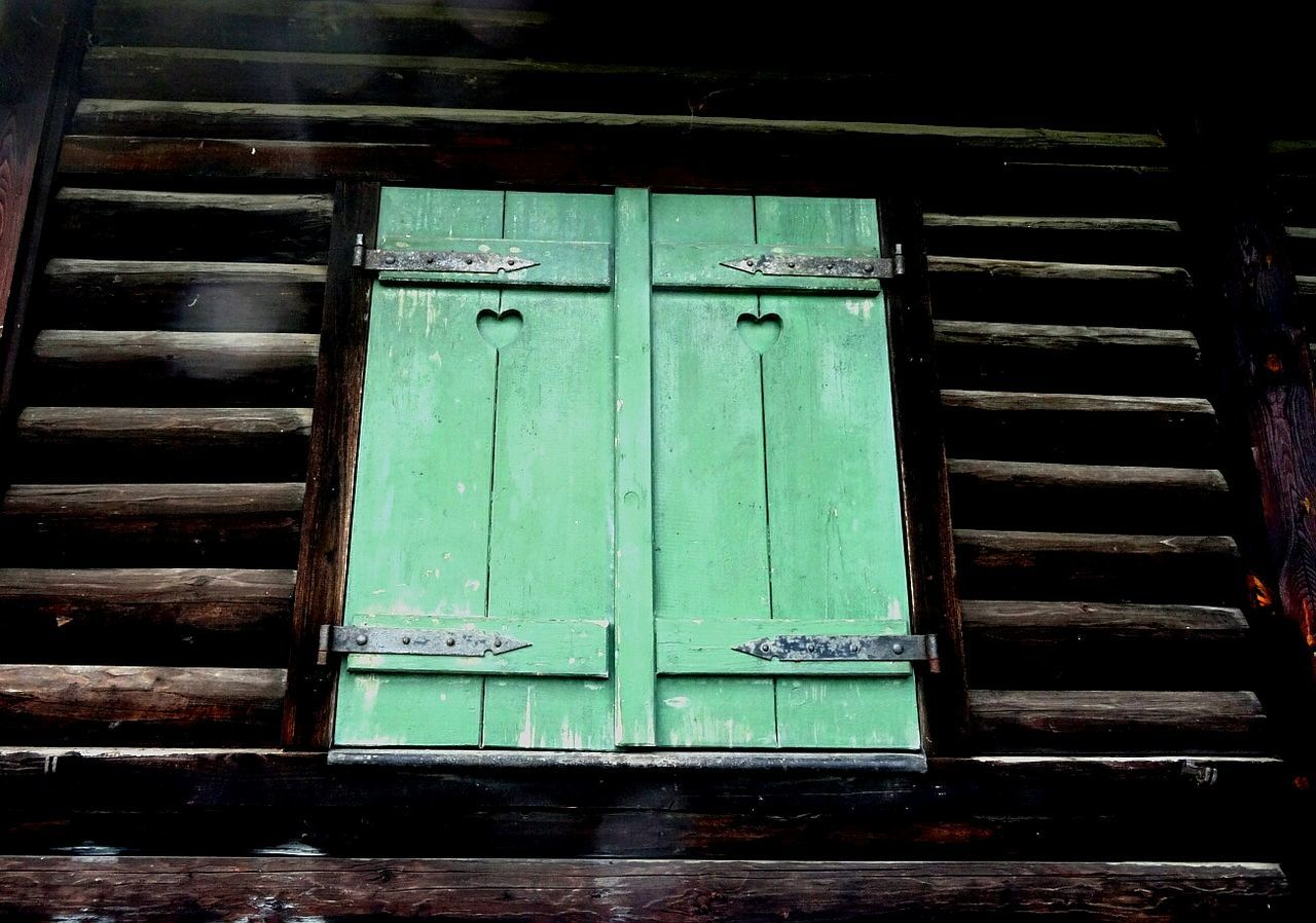 door, closed, wood - material, no people, outdoors, day, green color, close-up
