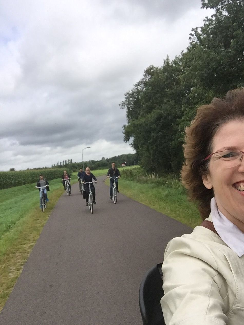 CyclingUnites It was so much fun being back again in my home country, the Netherlands, and making a family trip by bicycle. For one of my daughters it was the first time in her life driving a bicycle, that was real fun!! FFamilyfFamily TimefFamily TripfFamily FunbBicyclerRoadoOutdoorscCloud - SkynNatureaActionaActivity