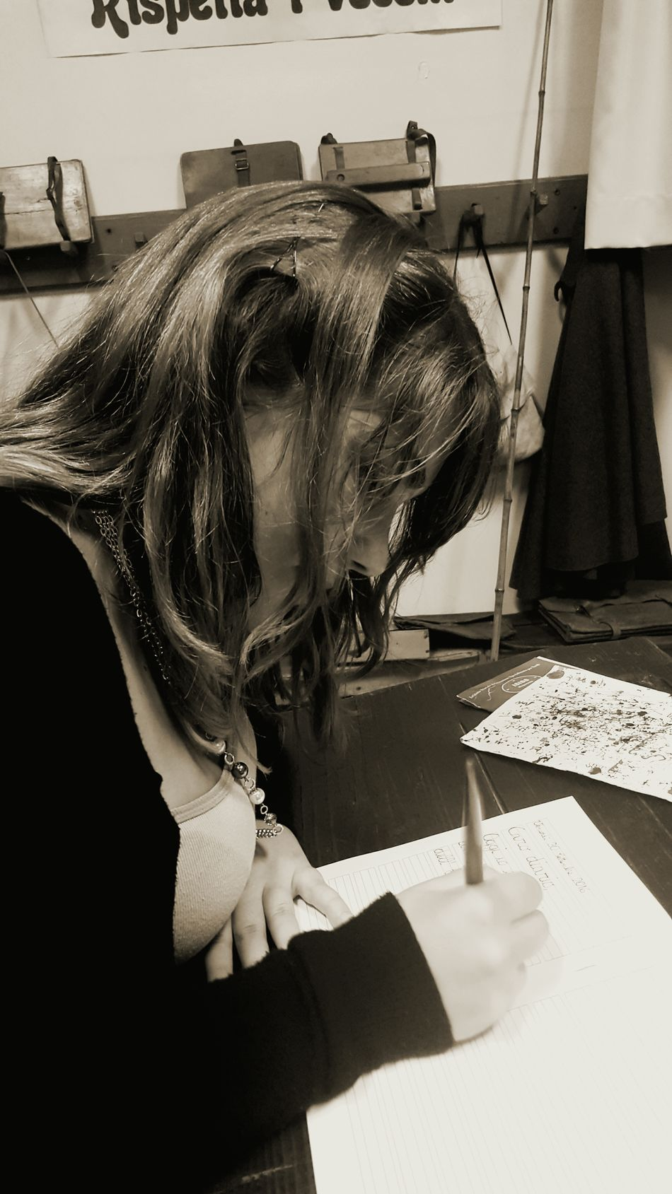 Oldschool School Callygraphy Nib Writing Education Vecchia Scuola Scuola Calligrafia Pennino Educazione