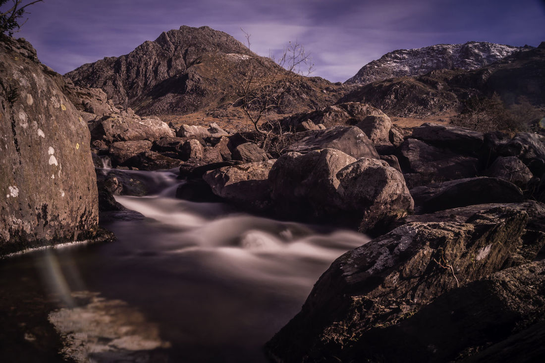Ogwen Valley Beauty In Nature Landscape Mountain Nature Night No People Outdoors Power In Nature Rock - Object Scenics Sky