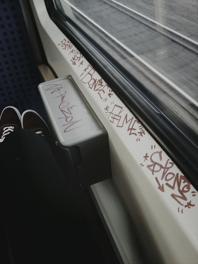 Train Tags Graffiti