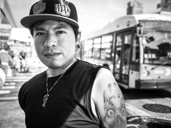 harlem life New York City Streetphotography B&W Portrait