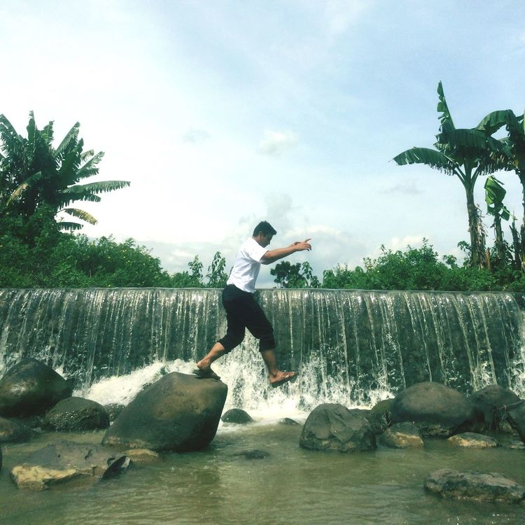Levitation Photography In Motion Outdoors Adventure Nature Photography Waterfall Stone Morning Walk
