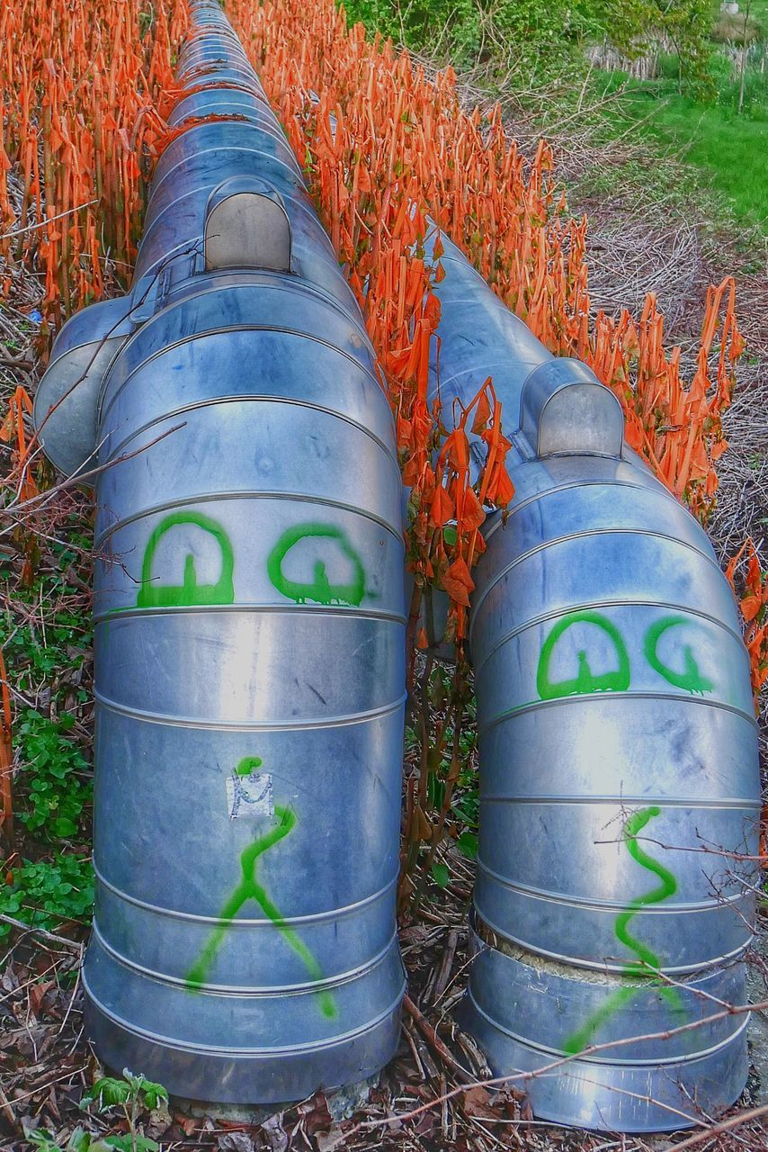 barrel, day, outdoors, text, no people, plant, field, growth, agriculture, nature, close-up, wine cask