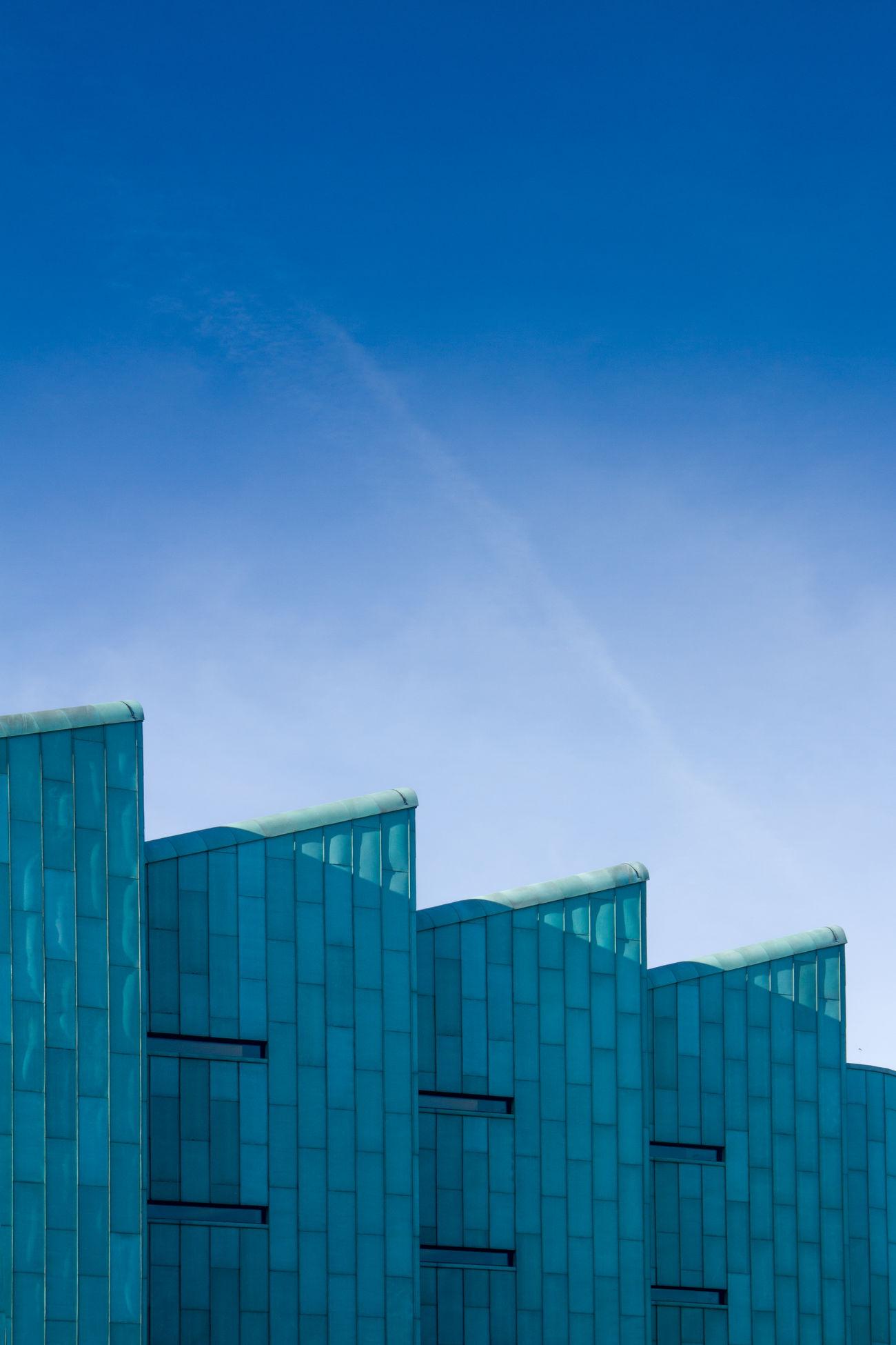 Architecture Blue Building Geometric Shapes Geometry Modern Modern Architecture Sky Windows The Architect - 2017 EyeEm Awards The Architect - 2017 EyeEm Awards