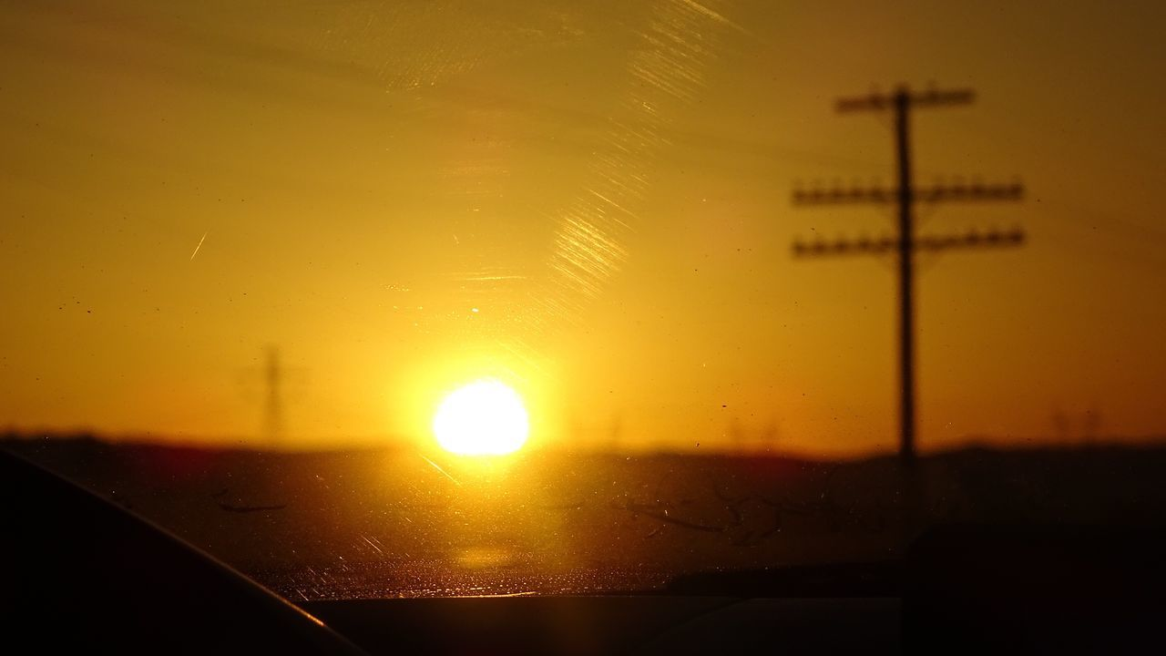 sunset, sun, orange color, no people, transportation, sky, sunlight, nature, outdoors, close-up, beauty in nature, scenics, water, day